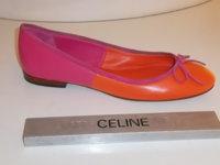 Celine pink orange ballet flat.JPG
