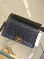 649e8d1f0eae Navy caviar boy bag has faded coloring on edges    - PurseForum