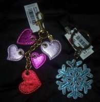 Metallic Heart Charm and Snowflake Keyfob.jpg