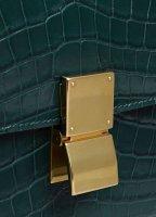 Medium Classic Bag in Dark Green Croc 189174AII.31ER_4_Fall18_87281.jpg