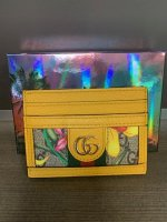 Gucci GG Yellow Flora Ophidia Card Holder 3.jpg