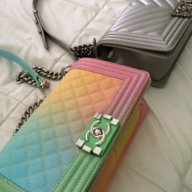 84fad0da54a4 mooaor. Member Thread Starter. Dec 14, 2008. 15 Posts. Chanel Le Boy Bag  Old Medium Bronze Iridescent Rainbow Hardware